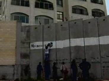 Psaní na zeď mezi Izraelem a Palestinou