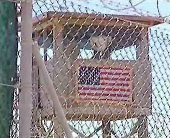Americká vlajka v Guantánamu