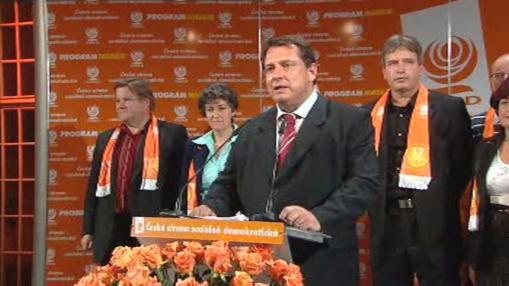 Projev předsedy ČSSD