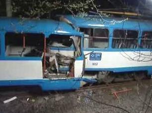 Tragická srážka dvou ostravských tramvají