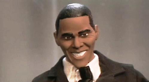 Plastiková figurka Baracka Obamy