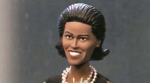 Plastiková figurka Michelle Obamové