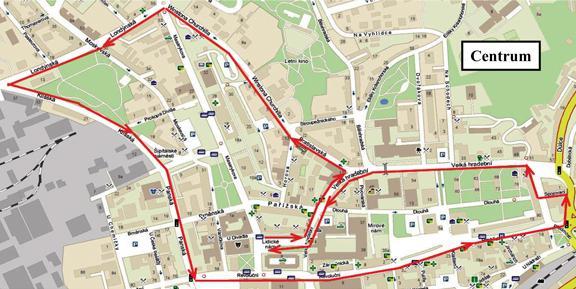 Předpokládaná trasa sobotního pochodu
