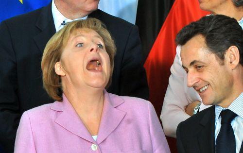 Angela Merkelová a Nikolas Sarkozy