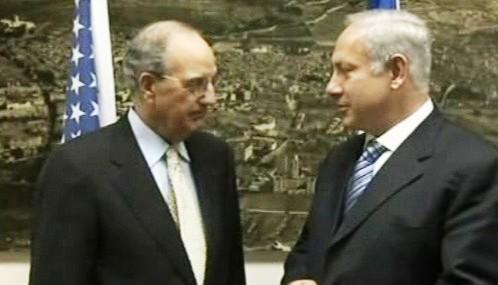 George Mitchell a Benjamin Netanjahu