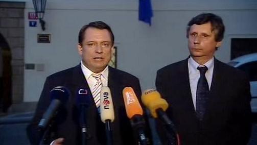 Jiří Paroubek a Jan Fischer