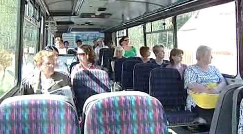 Cestující v autobusu