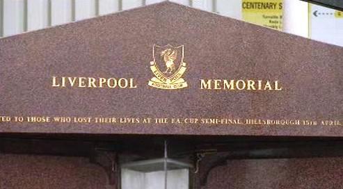 Památník obětem ze stadionu Hillsborough