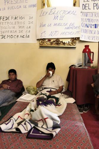 Evo Morales drží hladovku