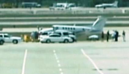 Šťastné přistání letounu King Air