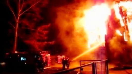 Požár ubytovny
