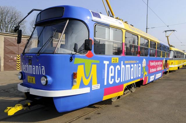 Tramvaj propagující Techmanii