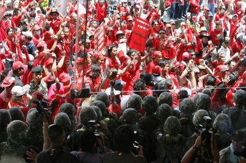 Pochod demonstrantů