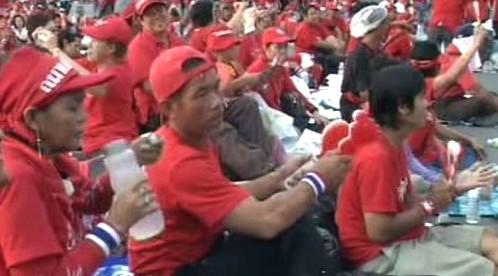 Demonstrující Thajci