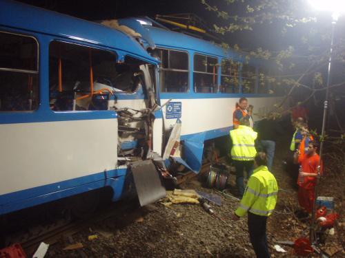 Tragická nehoda tramvají