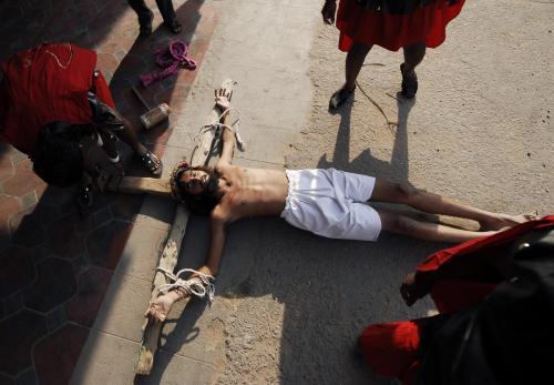 Oslavy Velkého pátku v Indii