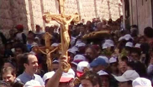 Velikonoční procesí v Jeruzalémě