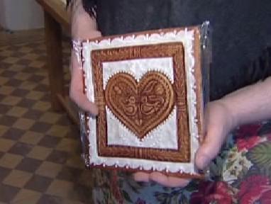Srdce z bílého perníku