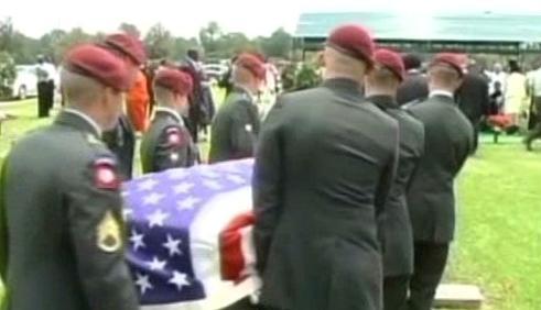 Pohřeb amerického vojáka
