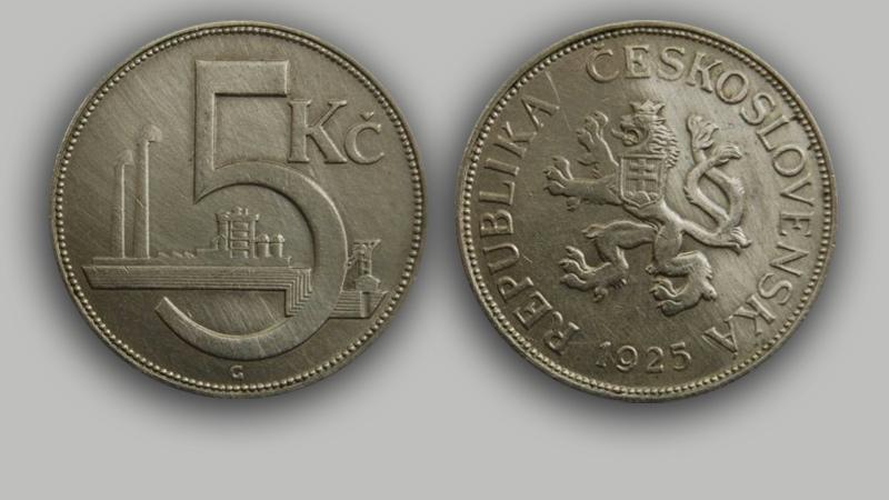 Československá mince z roku 1925