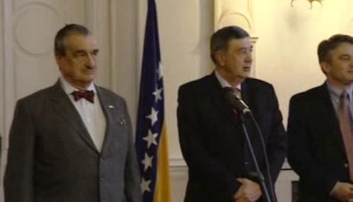 Karel Schwarzenberg na návštěvě Bosny