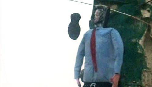 Posměšná figurína George Bushe