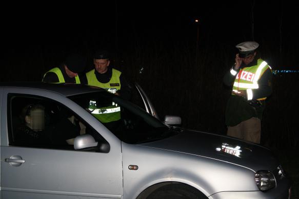 Policie při dopravní akci