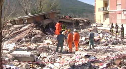 Záchranné práce v Itálii