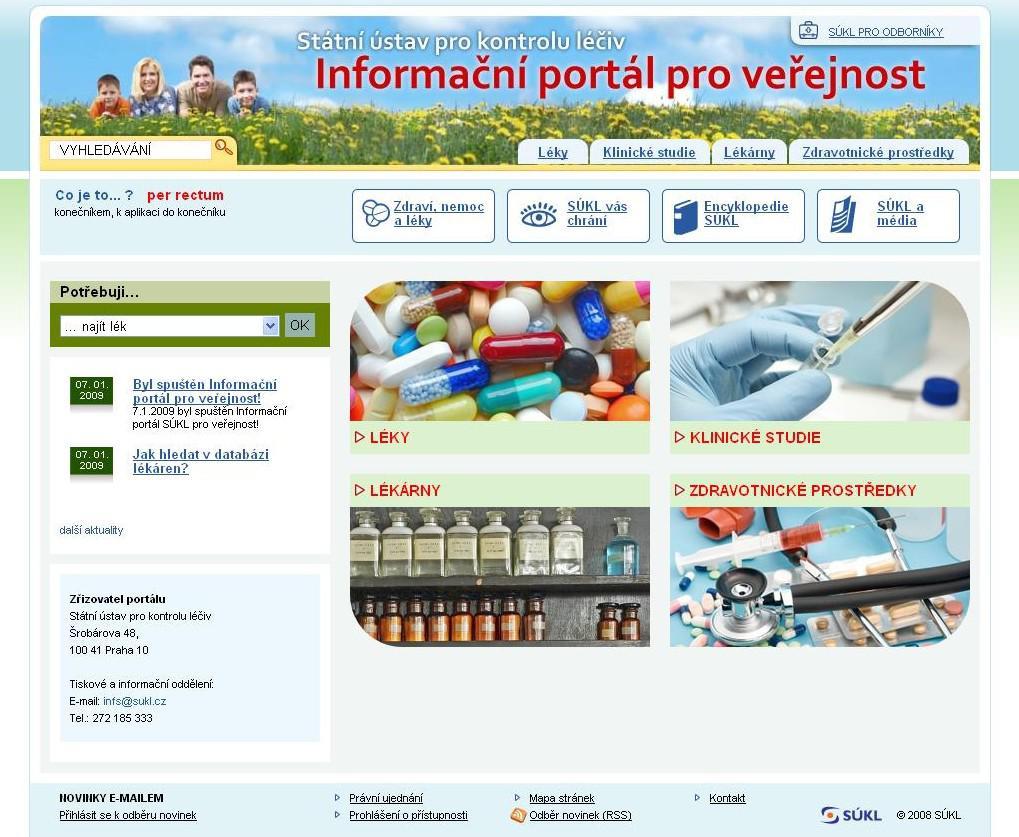 Informační portál pro veřejnost