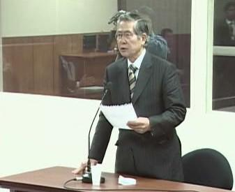 Alberto Fujimori před soudem