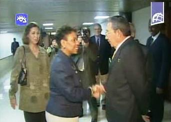 Kubánský prezident a americká kongresmanka