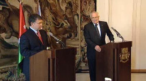 Abdalláh II. a Václav Klaus