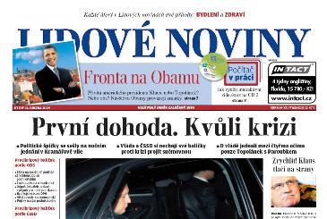 Lidové noviny z 31. března 2009