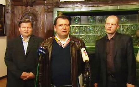 Jiří Paroubek a zástupci ČSSD