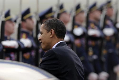 Obama před odletem