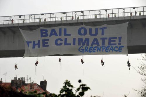 Horolezci Greenpeace