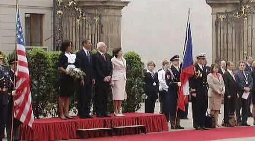 Barack Obama na Pražském hradě