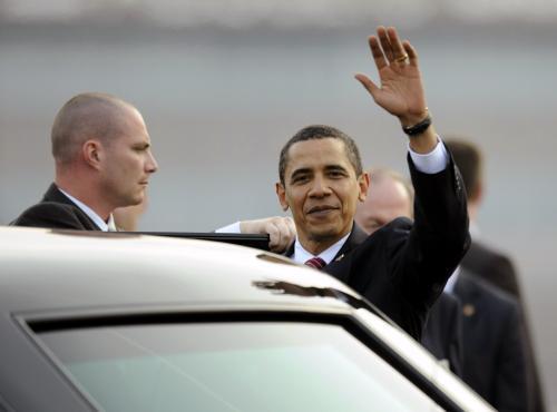 Obama zdraví Prahu