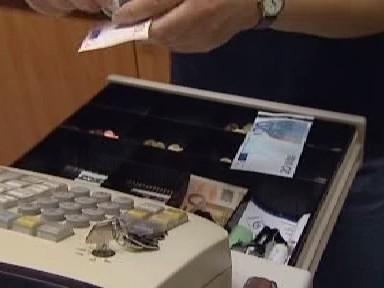 Pokladna s eury