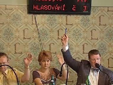 Hlasování libereckých radních