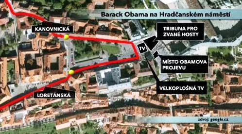 Mapa Hradčanského náměstí