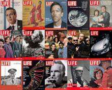 Obálky časopisu Life