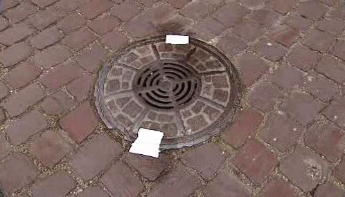 Zapečetěný kanál v Baden-Badenu