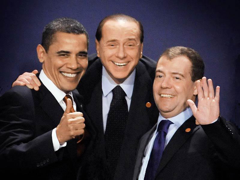 Obama, Berlusconi a Medveděv