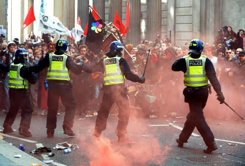 Londýnská demonstrace před summitem G20