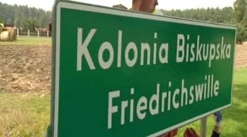Dvojjazyčný nápis polské obce