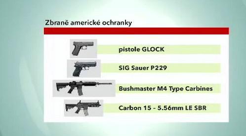 Zbraně americké ochranky