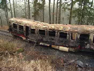 Ohořelý vagón