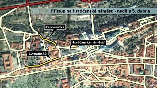 Přístup na Hradčanské náměstí