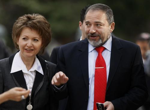 Avigdor Lieberman s manželkou Elou